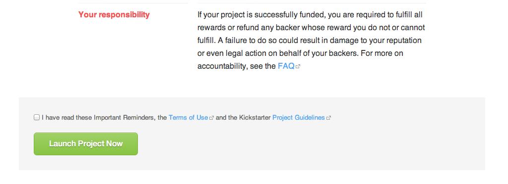 Accountability On Kickstarter Kickstarter